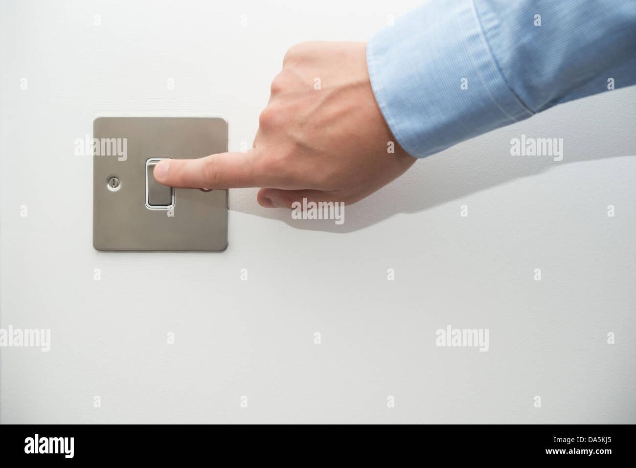 Switching light switch Stock Photo: 57902829 - Alamy