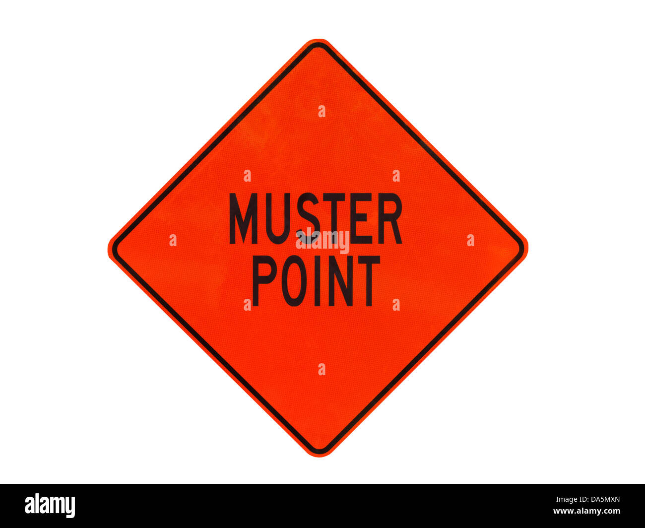 Muster point sign - Stock Image
