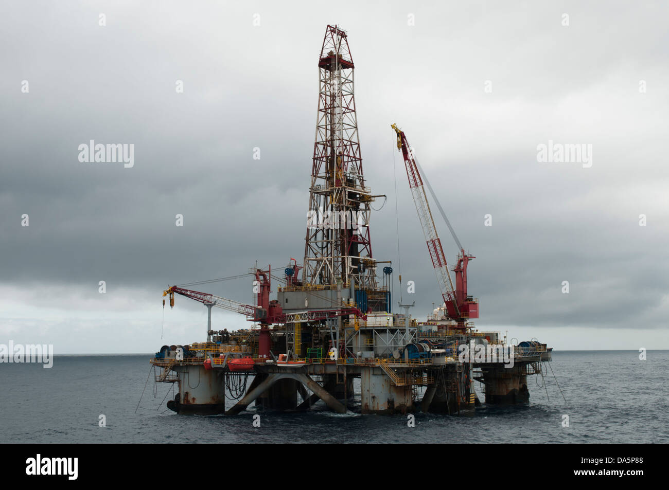 SS64 dilling rig working for Petrobras offshore Rio de Janeiro state,  Campos Basin, Brazil