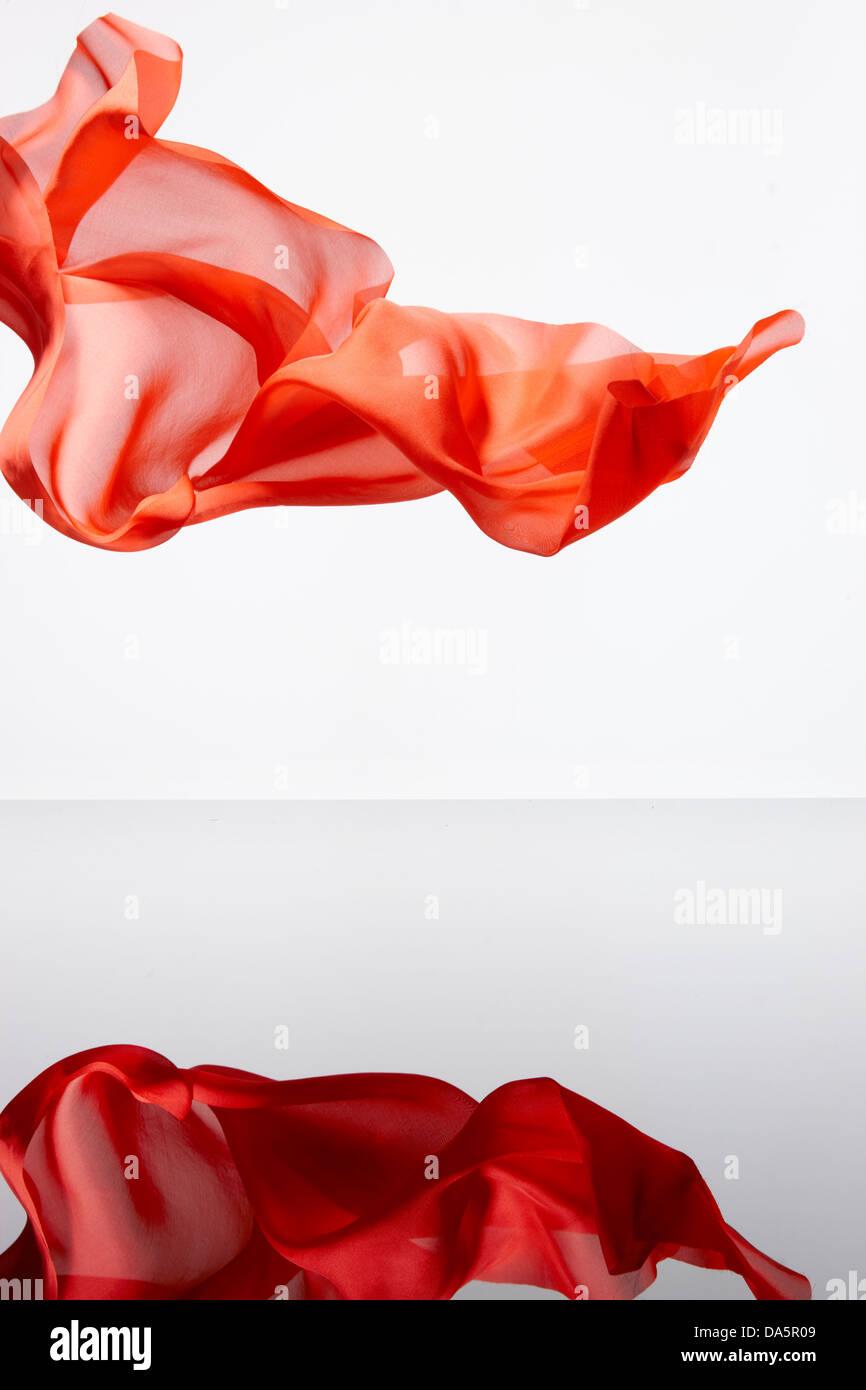 chiffon fabric refection wisp wispy Stock Photo