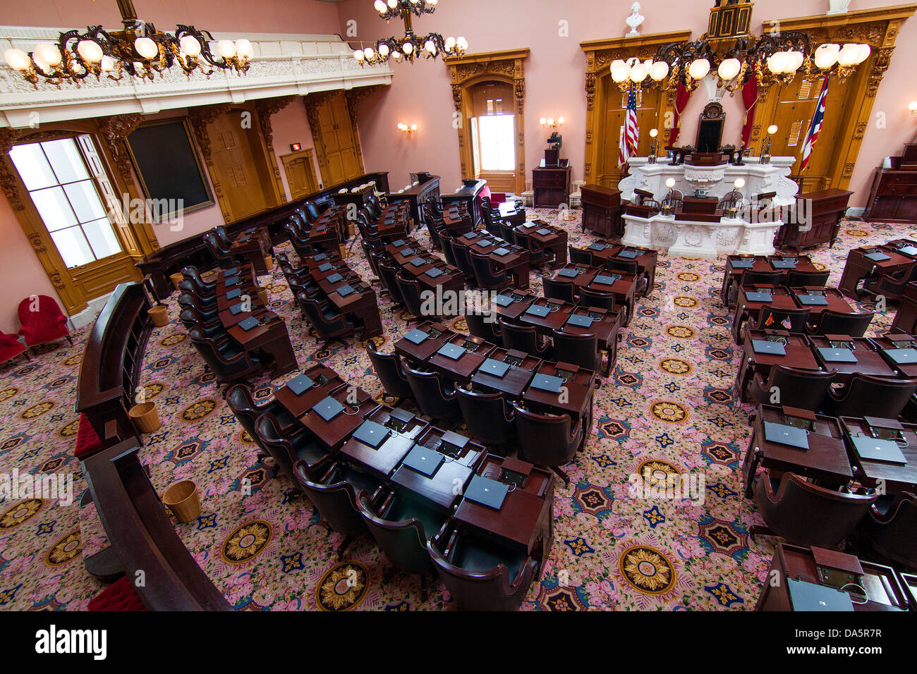 The Ohio General Assembly at the Ohio Statehouse in Columbus, Ohio, USA. - Stock Image