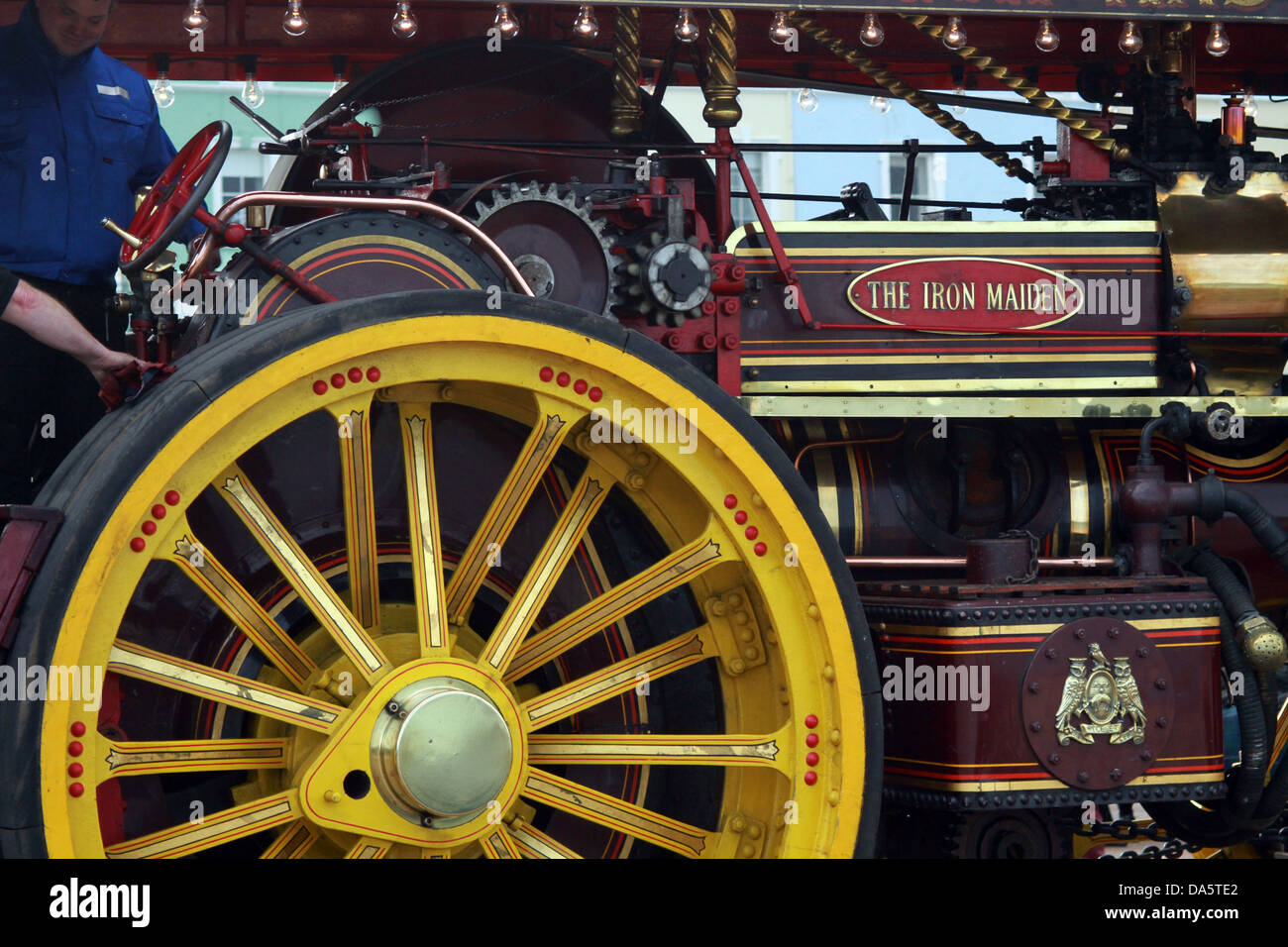 Showman's road locomotive or showman's engine  Iron Maiden - Stock Image