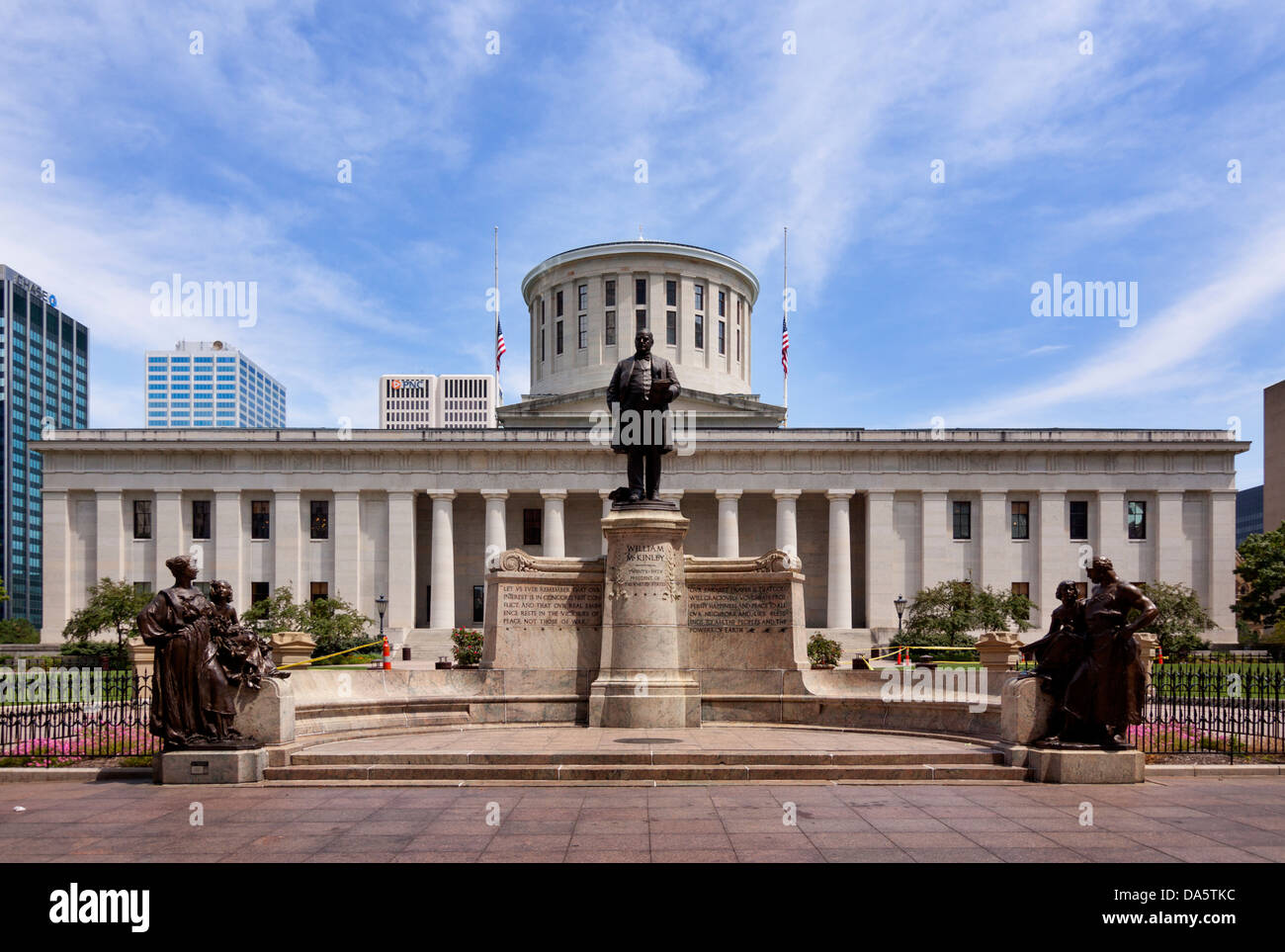 The McKinley memorial at the Ohio Statehouse in Columbus, Ohio, USA. - Stock Image