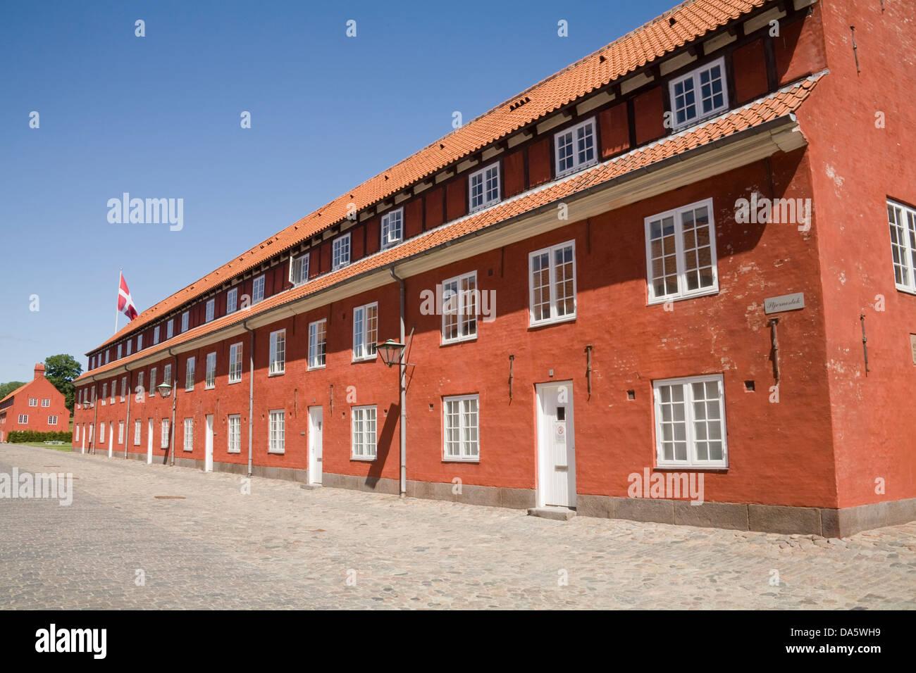 Copenhagen Denmark EU The Rows built as Army barracks in Kastellet the fortified Citadel Frederikshavn lovely June - Stock Image