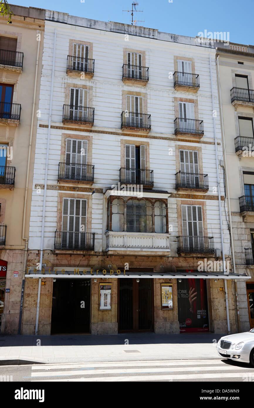 teatre metropol tarragona catalonia spain - Stock Image