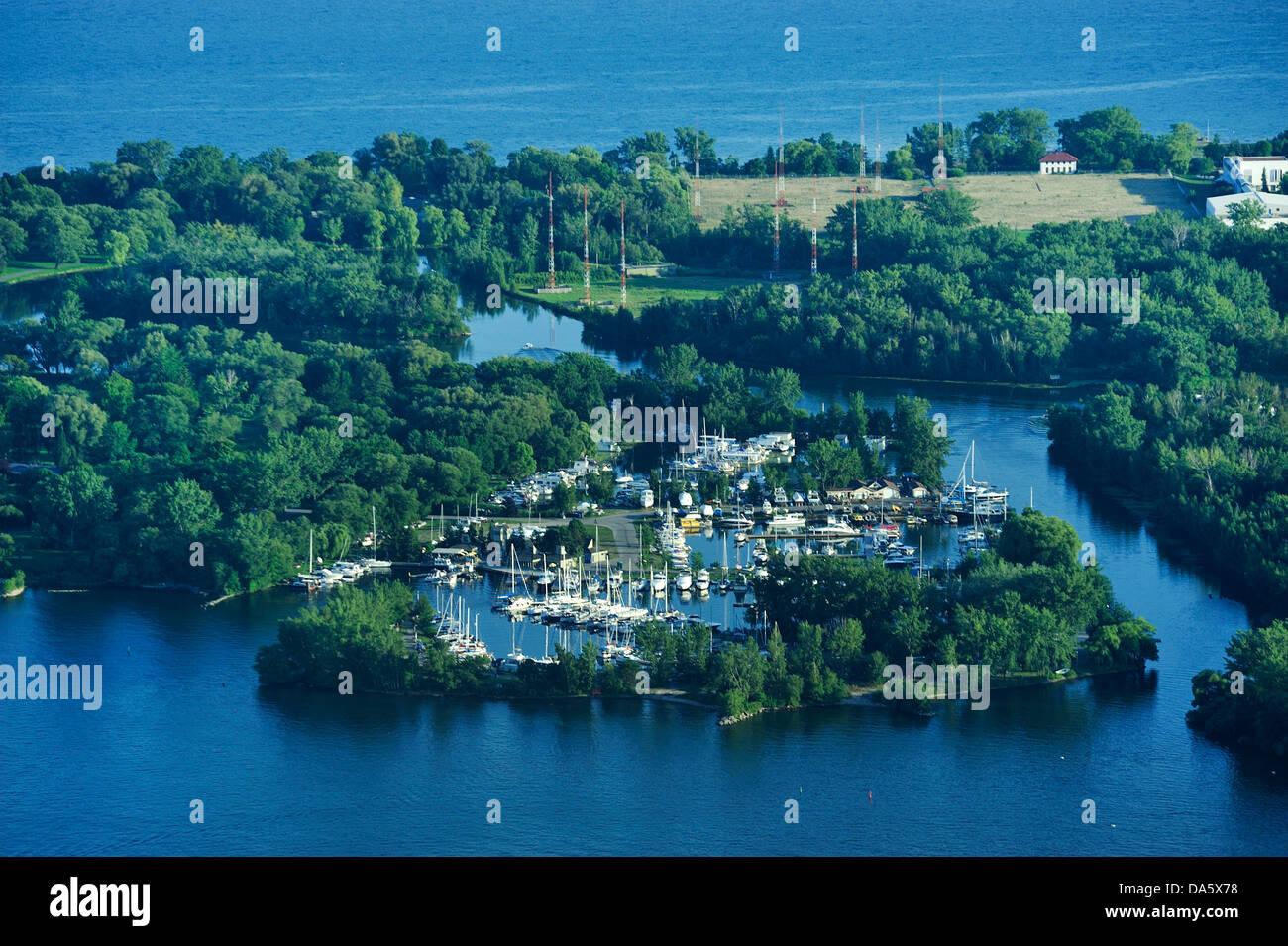 Toronto Island Park, Lake Ontario, Ontario, Canada, Park, lake, forest - Stock Image