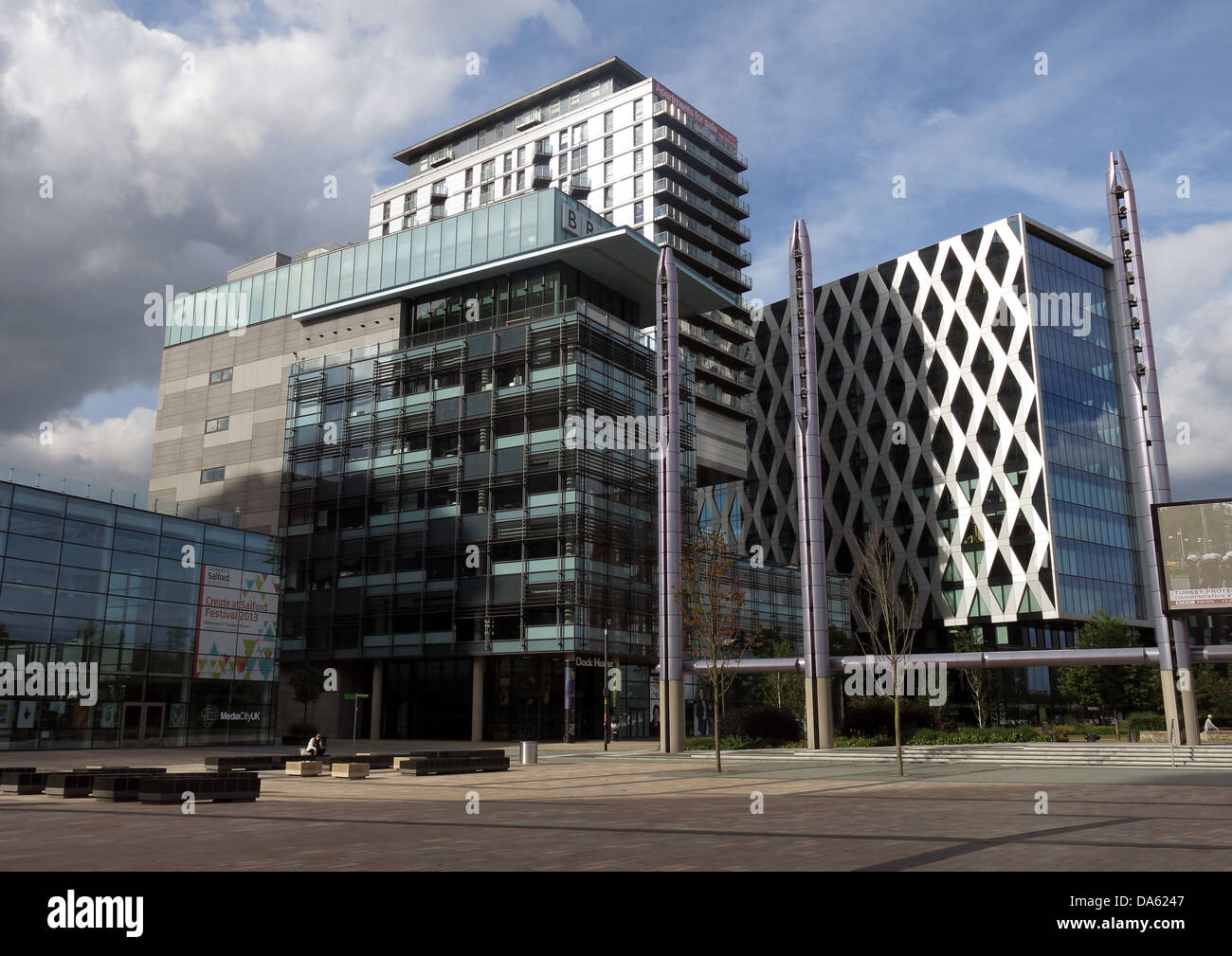 BBC Media City UK Salford Quays Manchester Lancs England Stock Photo