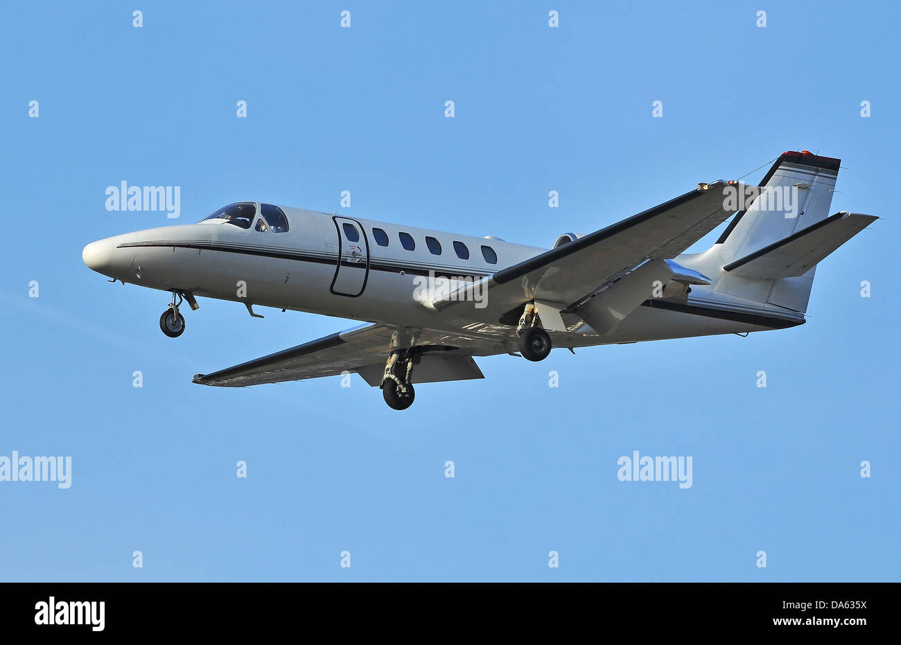 Popular business jet designed to be flown by a single pilot, but with twin turbofan motors - Stock Image