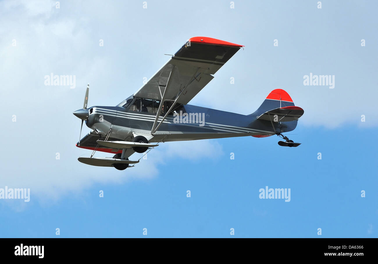 a light high wing airplane, ideal for reconnaissance because of the increased visibility. Equipped with a constant - Stock Image