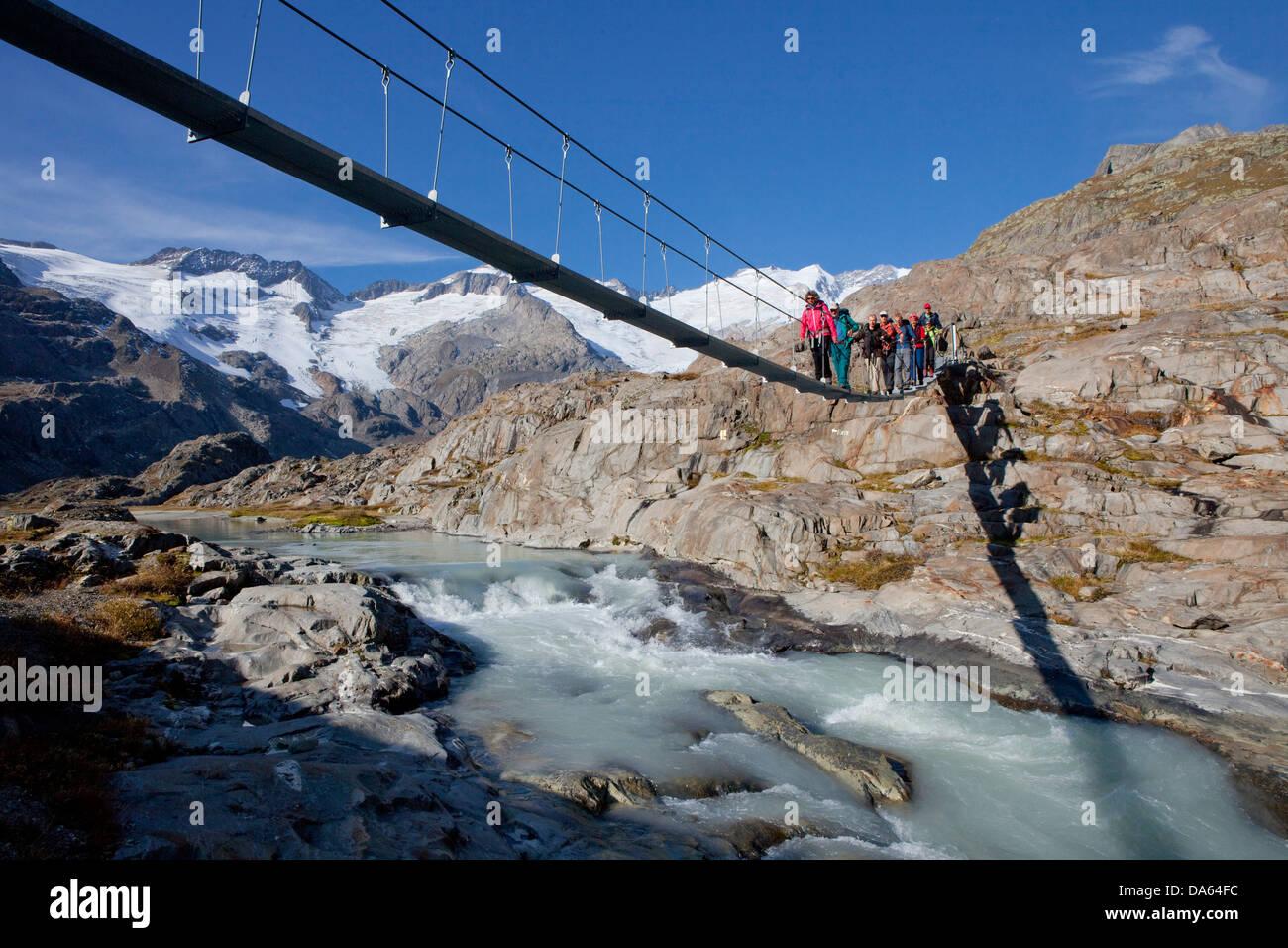 Traveller, Gauligletschersee, Urbachtal, mountain, mountains, canton, Bern, Gauli, Gauligebiet, Gauligletscher, - Stock Image