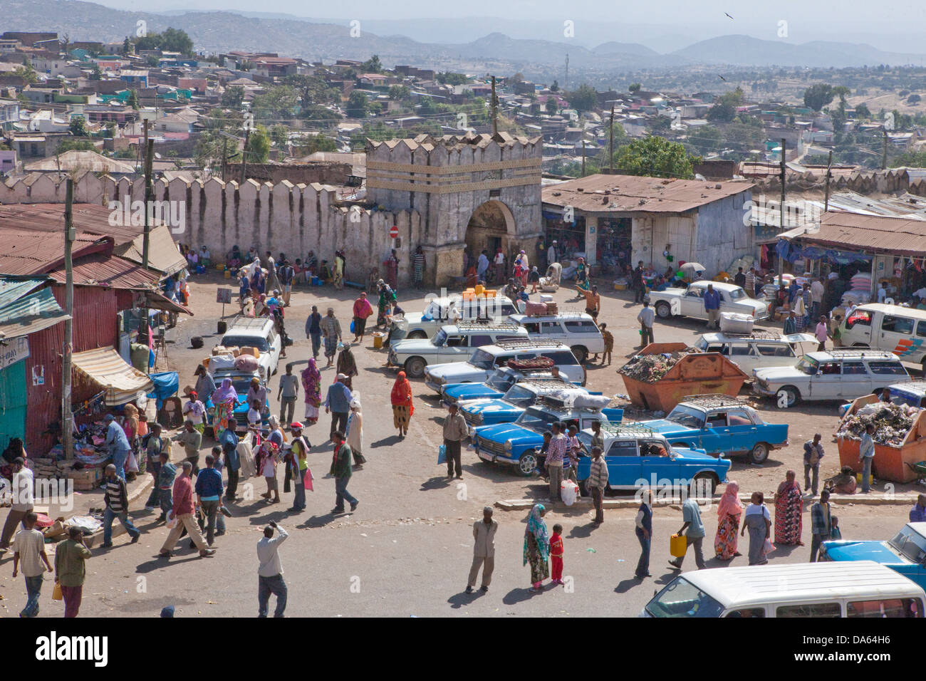 Town gate, Harar, Ethiopia, UNESCO, world cultural heritage, Africa, town, city, - Stock Image