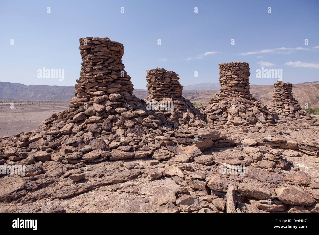 Afar, grave, Africa, stones, Ethiopia, Stock Photo