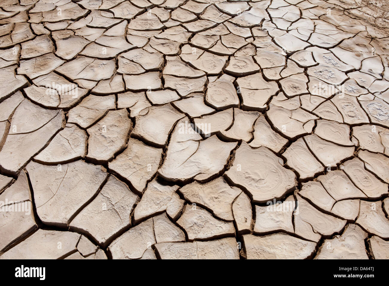 Danakil, Africa, Ethiopia, drily, tears, earth, desert - Stock Image
