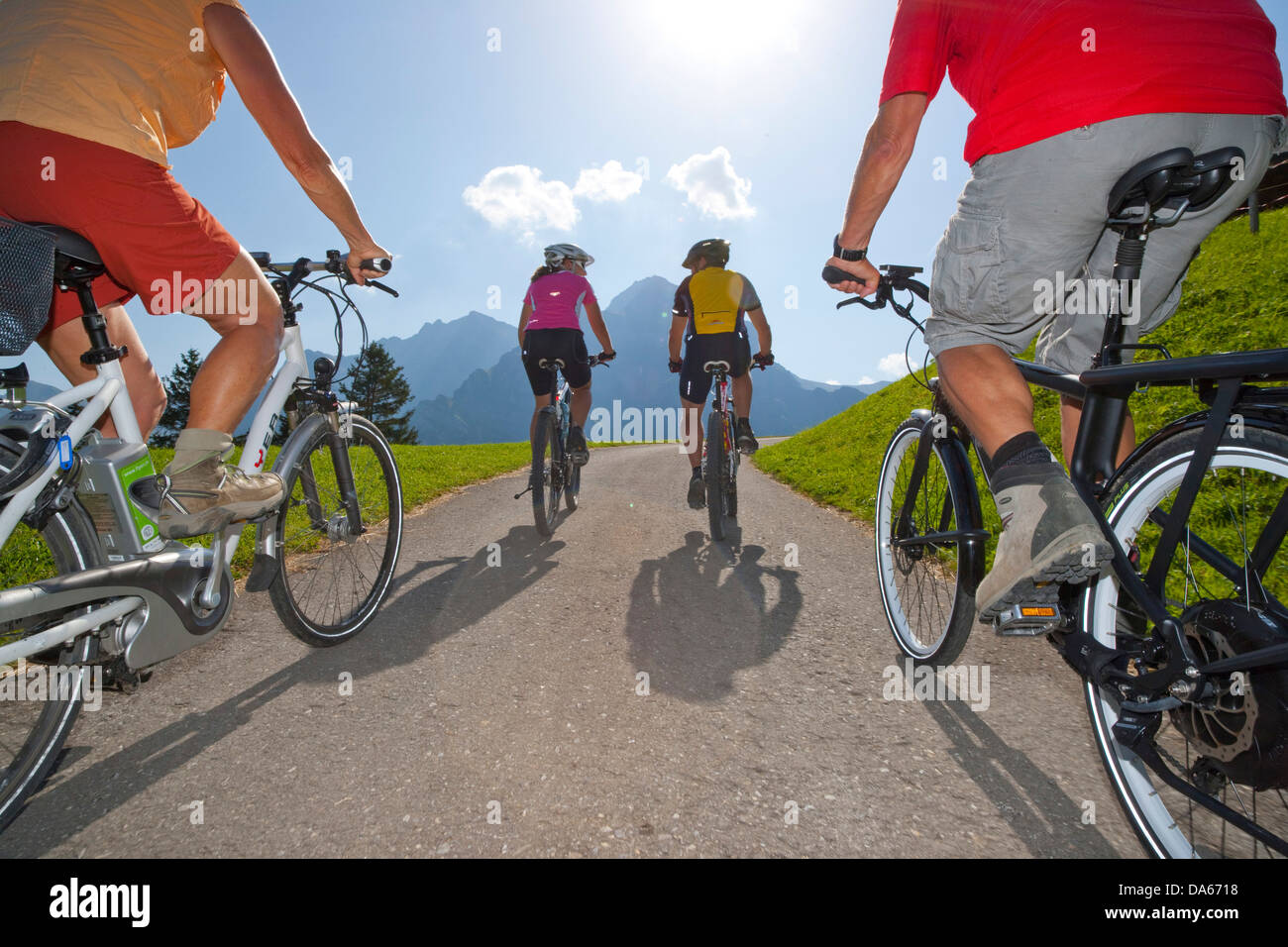 Electric bike, Ebike, electric bicycle, Adelboden, canton, Bern, Bernese Oberland, summer sport, bicycle, bicycles, - Stock Image