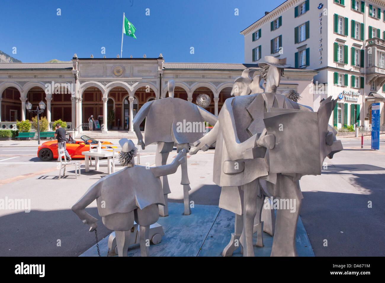 RagARTs, culture, canton, SG, St. Gallen, Switzerland, Europe, art, skill, Bad Ragaz, figures - Stock Image