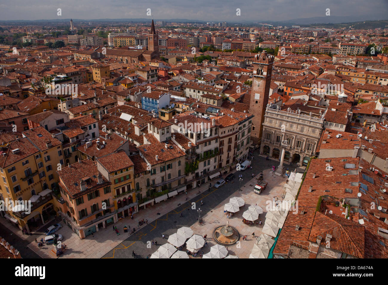 Verona, town, city, Italy, Europe, Switzerland, Europe, overview, roofs, - Stock Image