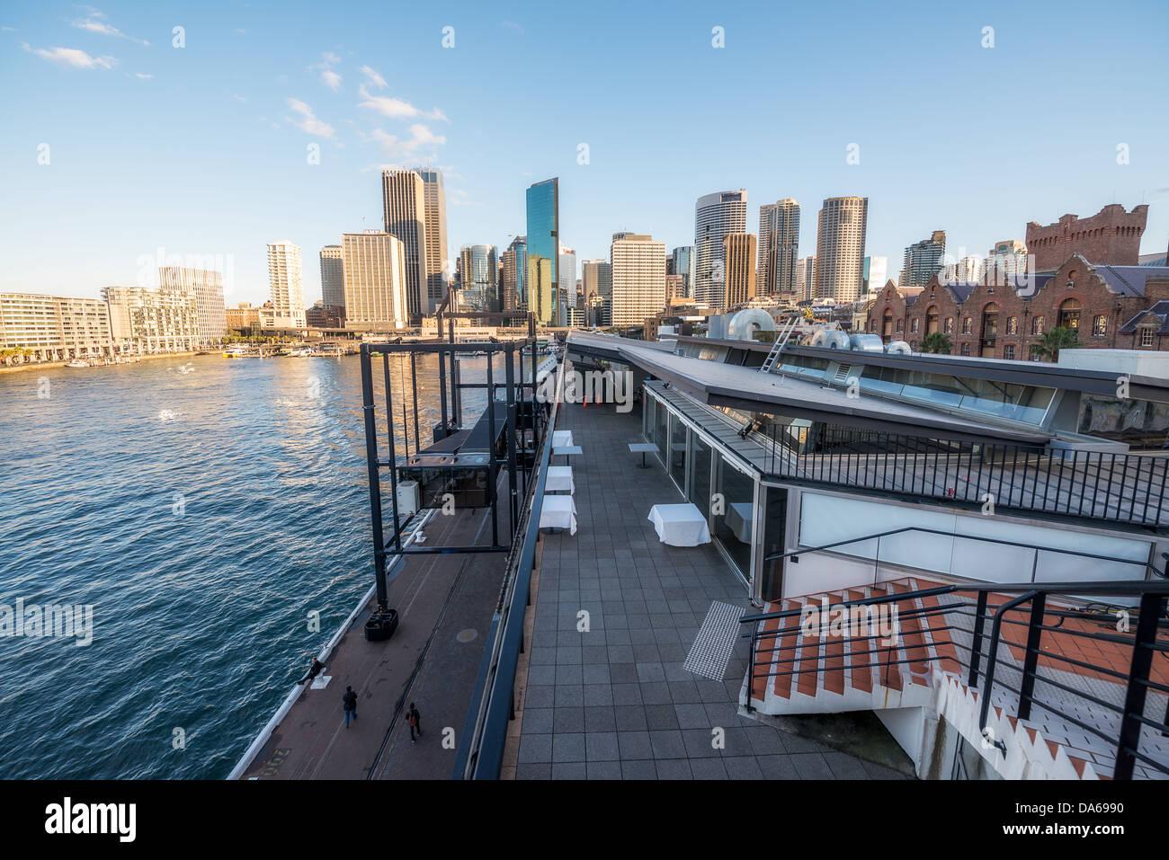 The Overseas Passenger Terminal near Circular Quay Sydney. - Stock Image