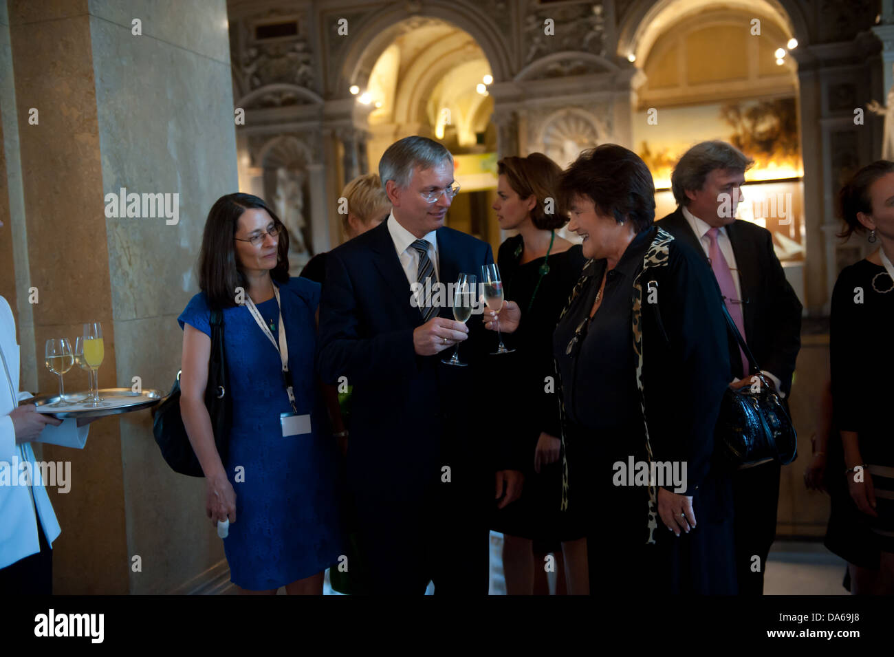 Reception by the Federal Minister of Heath of the Republic of Austria Mr. Alios Stöger - Stock Image