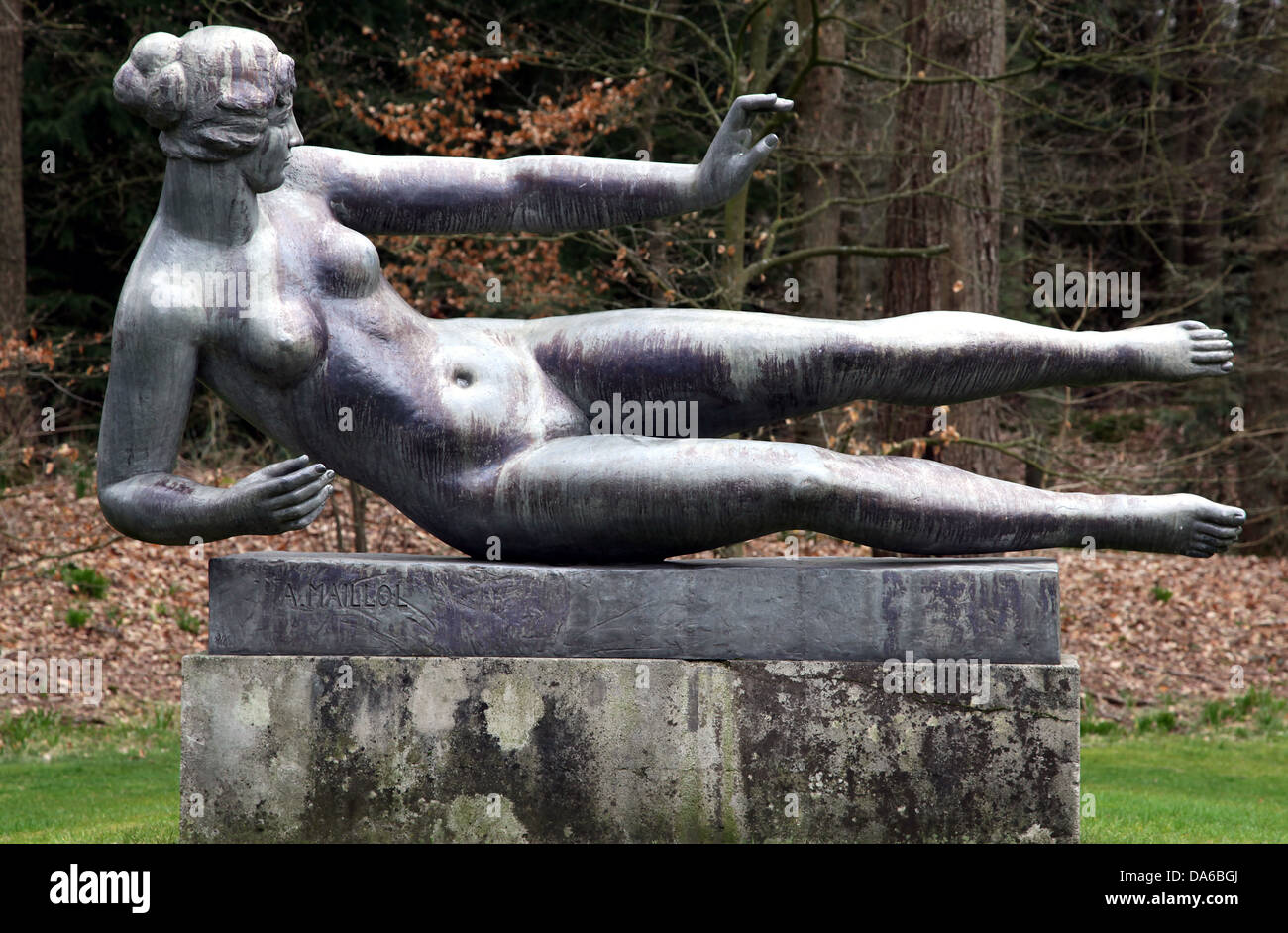 L'Air.Air.a bronze sculpture by Aristide Maillol.1938.located at the Kröller-Müller Museum. - Stock Image
