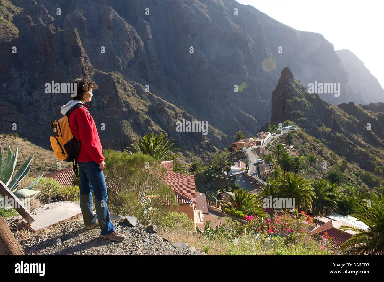 Tenerife, Teneriffa, Canaries, Canary islands, isles, Spain, Spanish, Europe, Masca, mountain landscape, mountain - Stock Image
