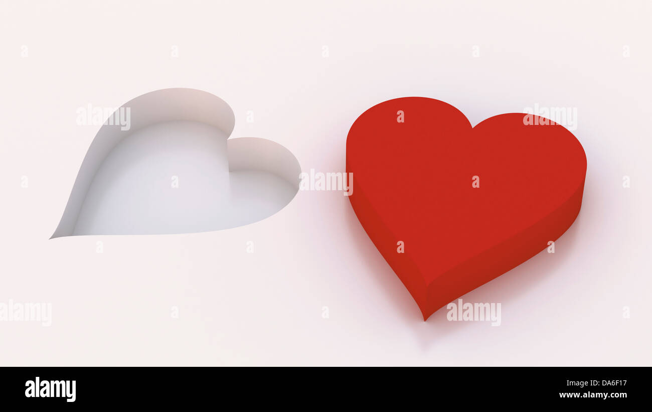 Two hearts - Stock Image