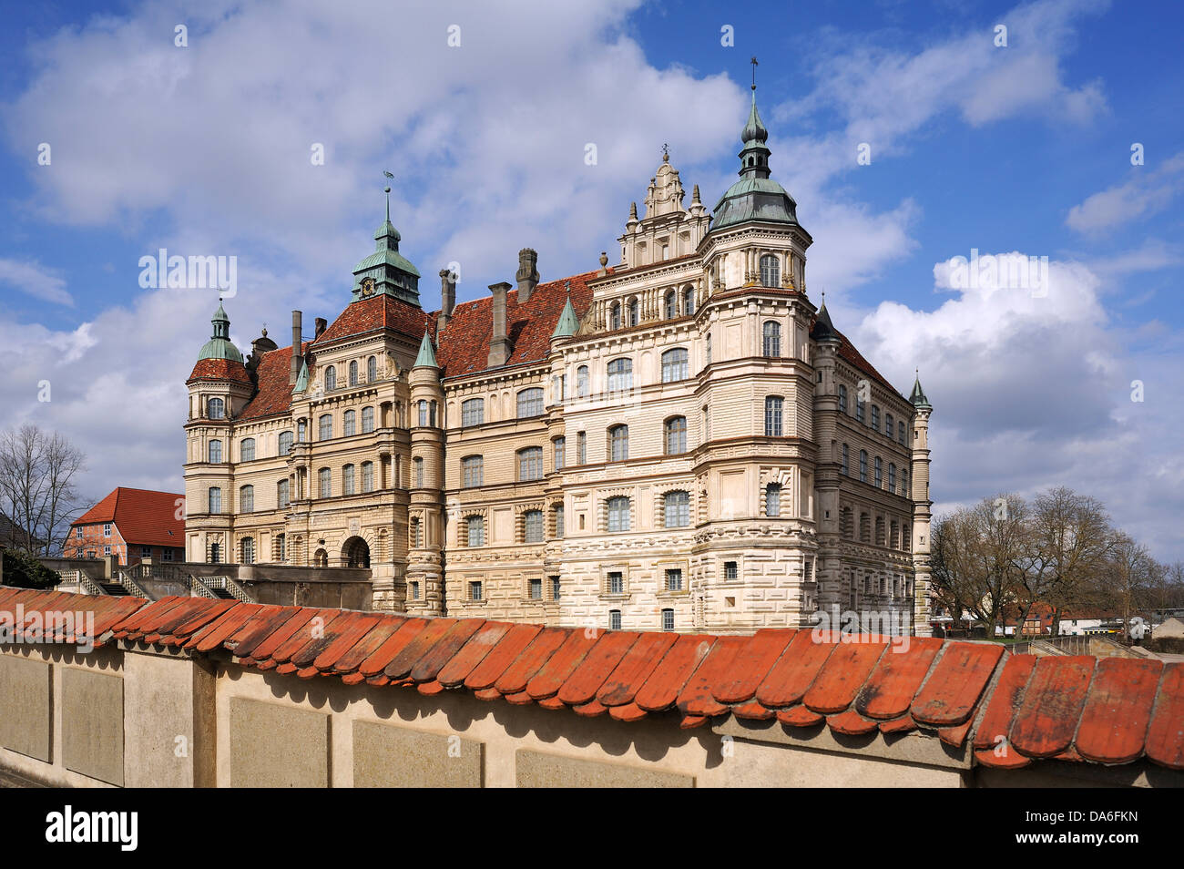 Schloss Guestrow Castle, Renaissance building with three wings, completed in 1671, now a museum - Stock Image