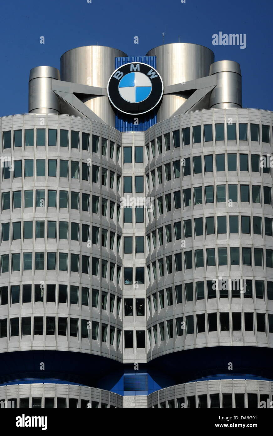 The headquarters of car manufacturer BMW in Munich, Germany, 01 July 2013. Photo:Tobias Hase Stock Photo