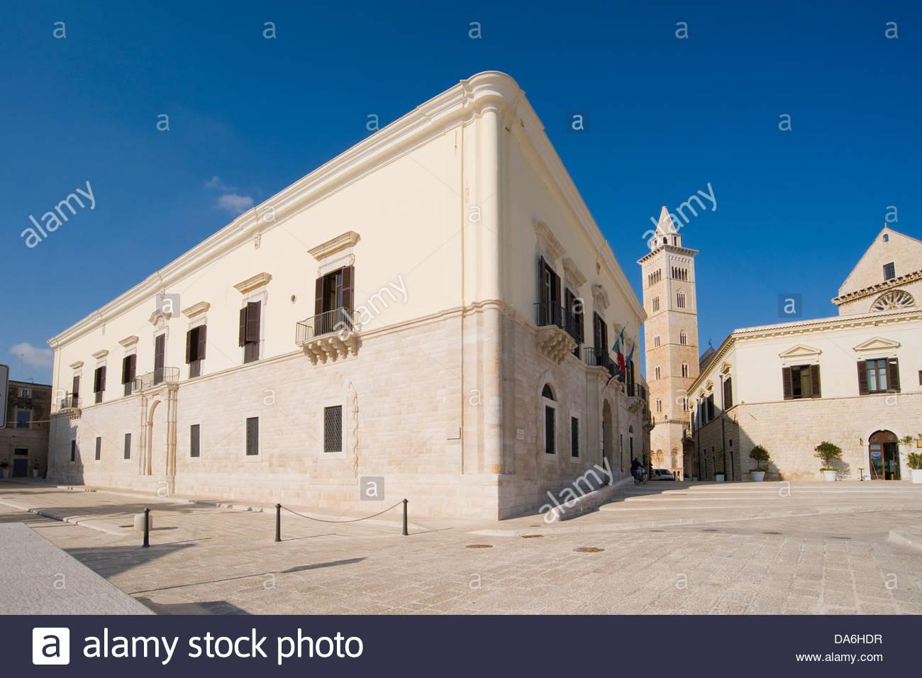 piazza sacra regia udienza,trani,puglia,italy - Stock Image