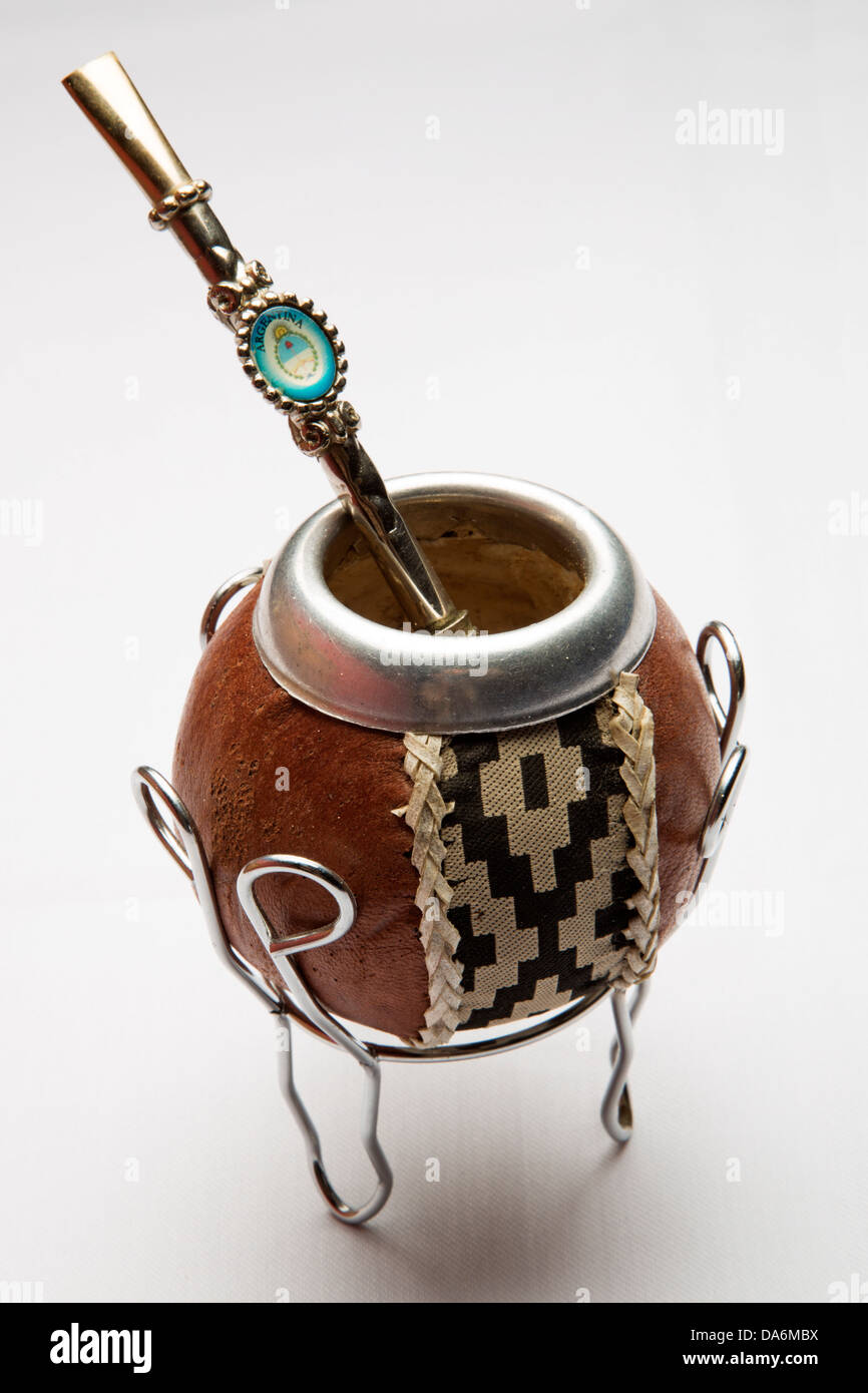 Argentine Vessel for drinking mate - Stock Image