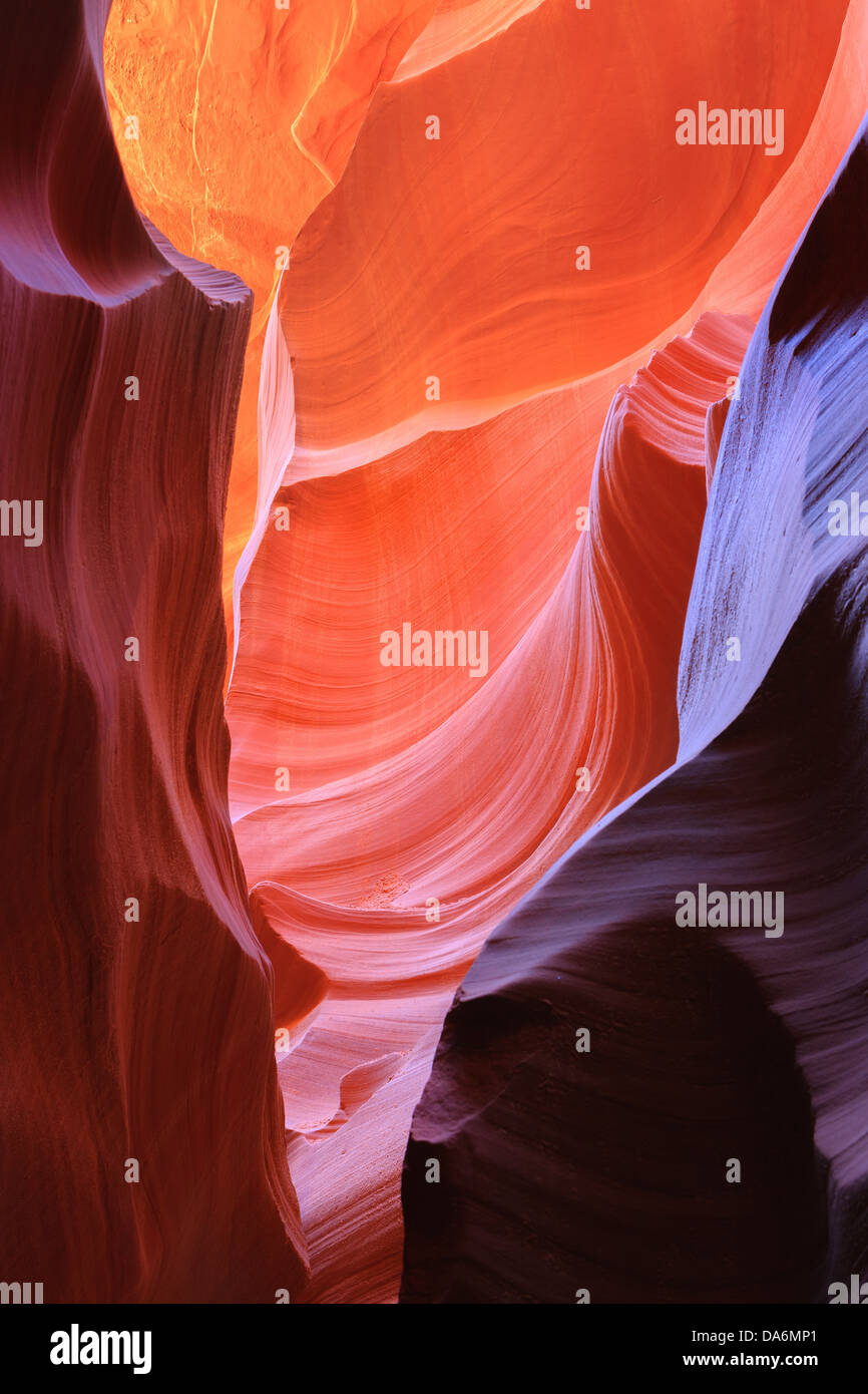 Lines and structures at Lower Antelope Canyon, Page, Arizona Stock Photo