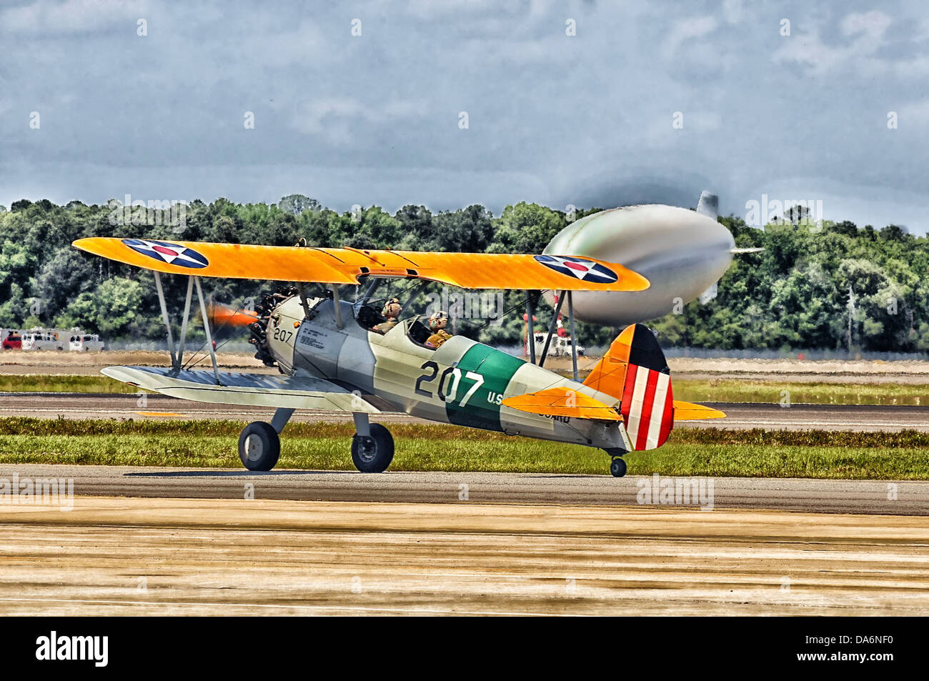 jacksonville florida airplane bi-wing old classic - Stock Image