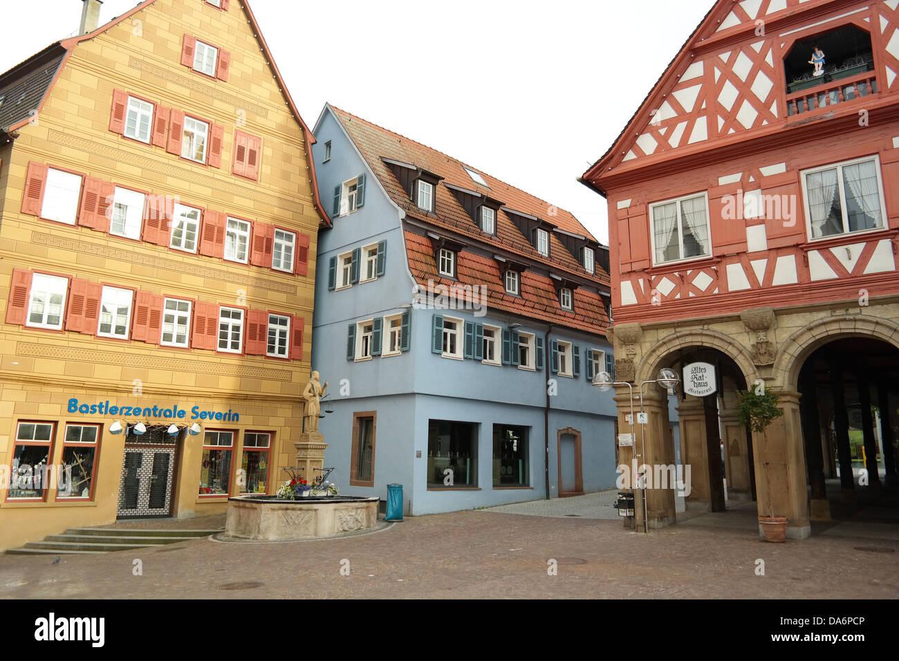 waiblingen stadtmitte center city - Stock Image