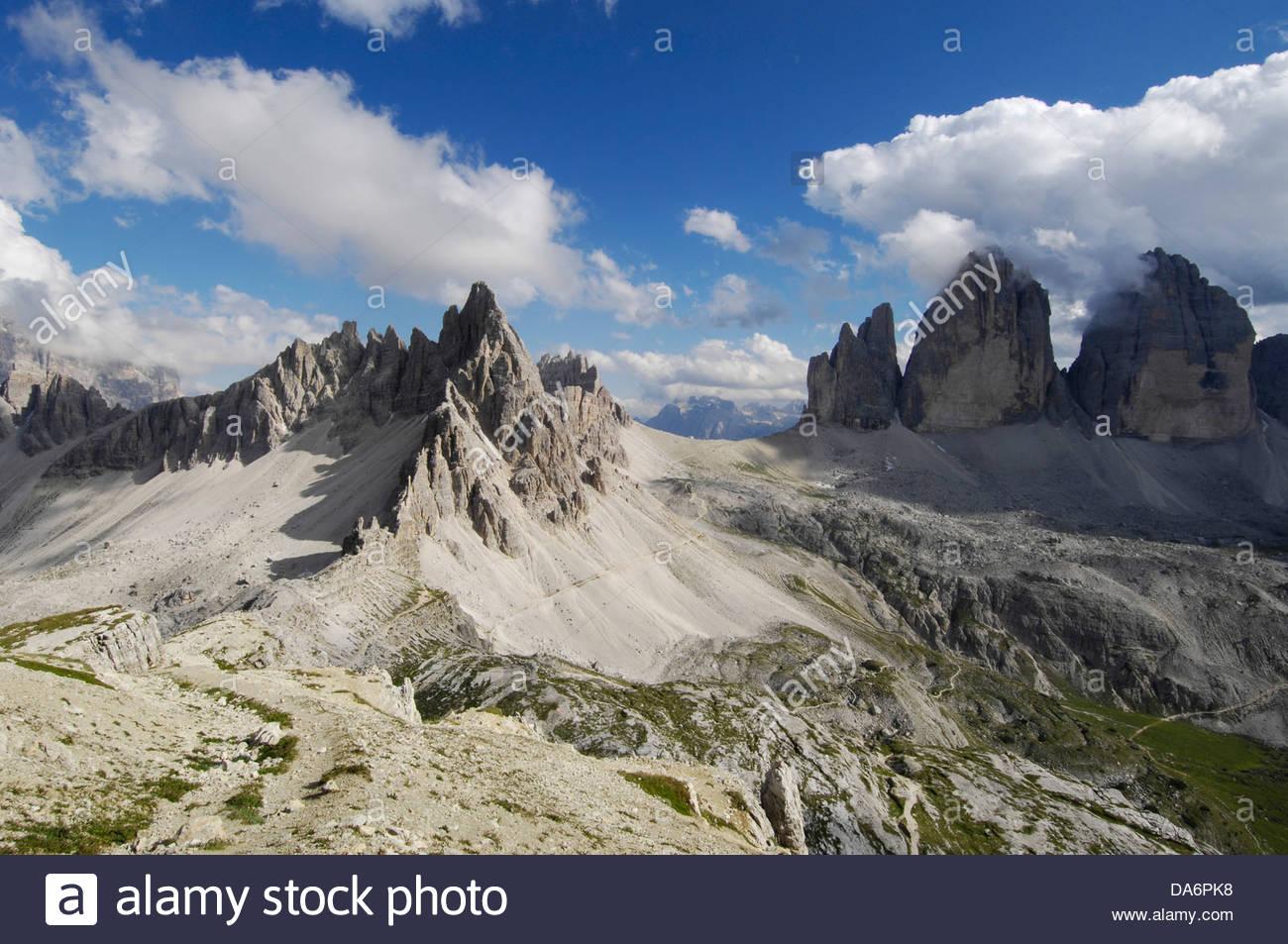 tre cime di lavaredo,dolomiti di sesto,south tyrol Stock Photo