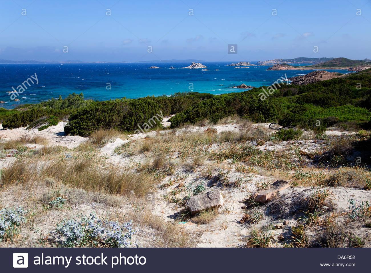 Coastline near Baia Trinità,Sardinia,Italy - Stock Image