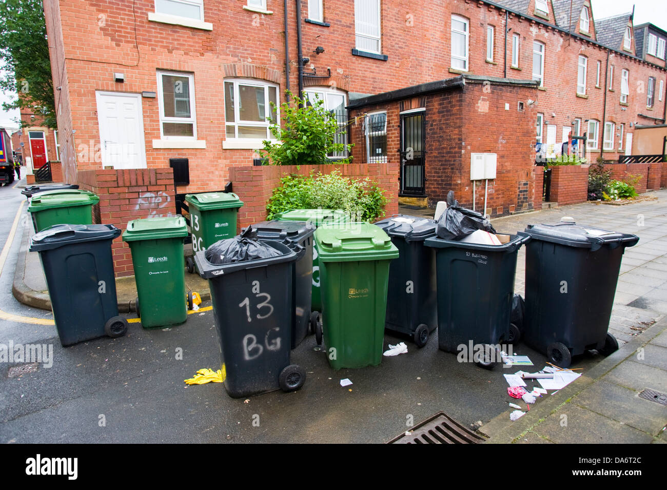 Image result for wheelie bins and rubbish in streets