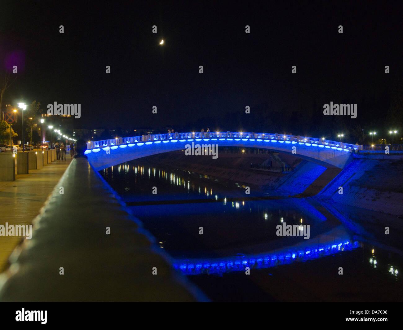 Türkei, Provinz Hatay, Antakya, Brücke über den Fluss Asi (Orontes) - Stock Image