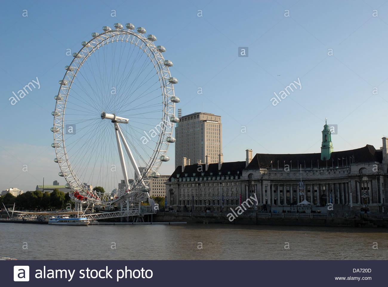 the merlin entertainments london eye,london,uk - Stock Image
