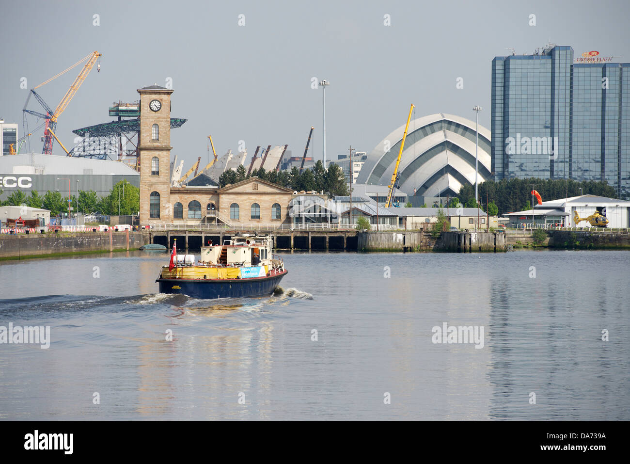 The River Clyde at Finnieston, Glasgow. - Stock Image