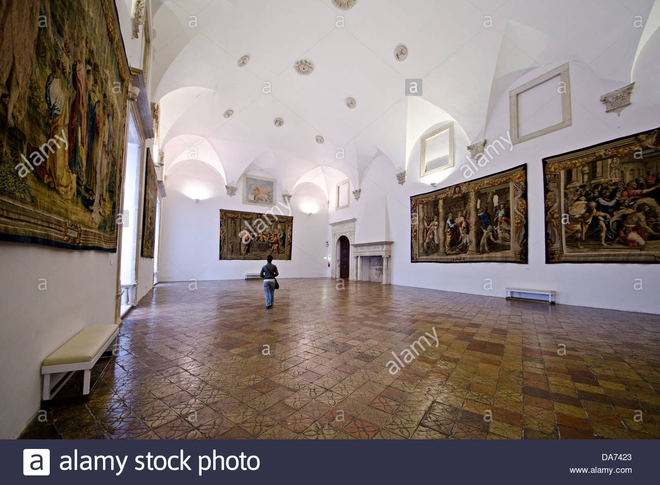 hall of tapestries of the Ducal Palace,Urbino Stock Photo