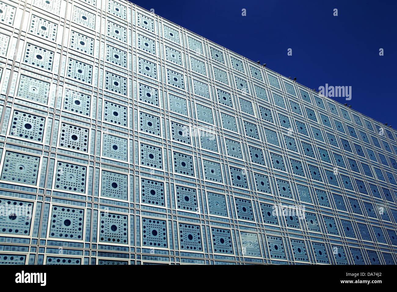 Arab World Institute, Paris, France - Stock Image