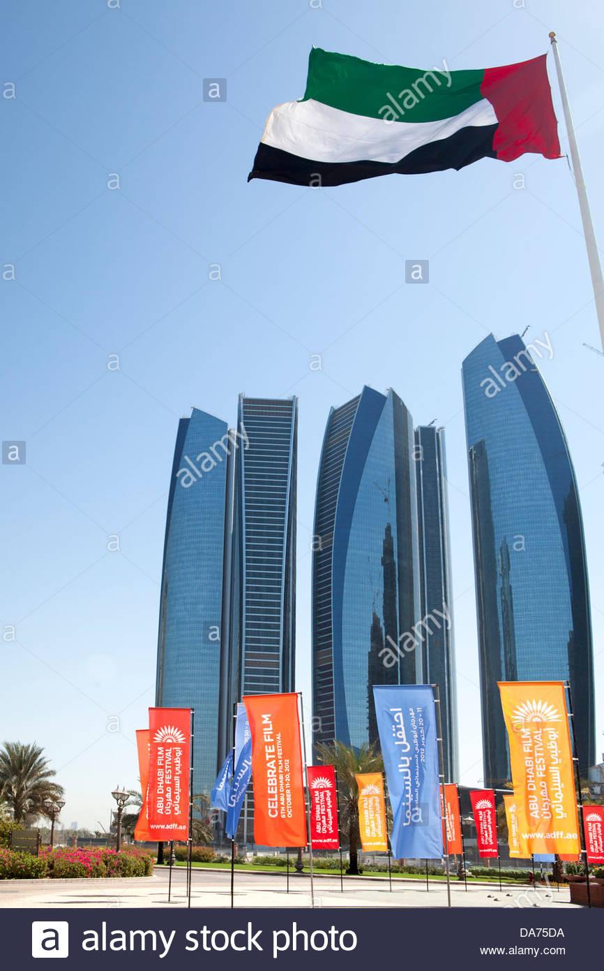 United Arab Emirates,UAE,Abu Dhabi,Etihad Towers - Stock Image