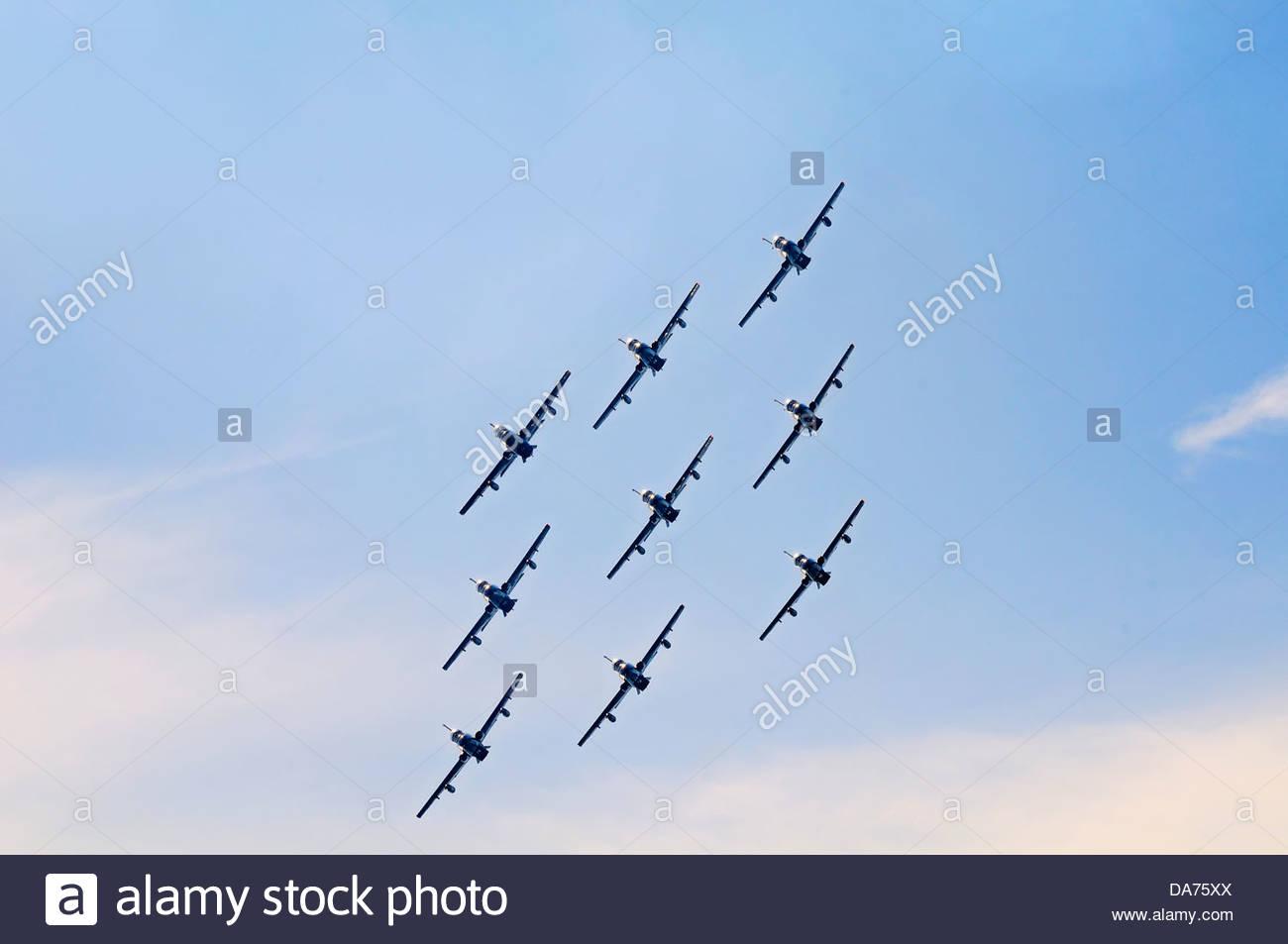 frecce tricolori,pattuglia acrobatica nazionale,air show,italy Stock Photo