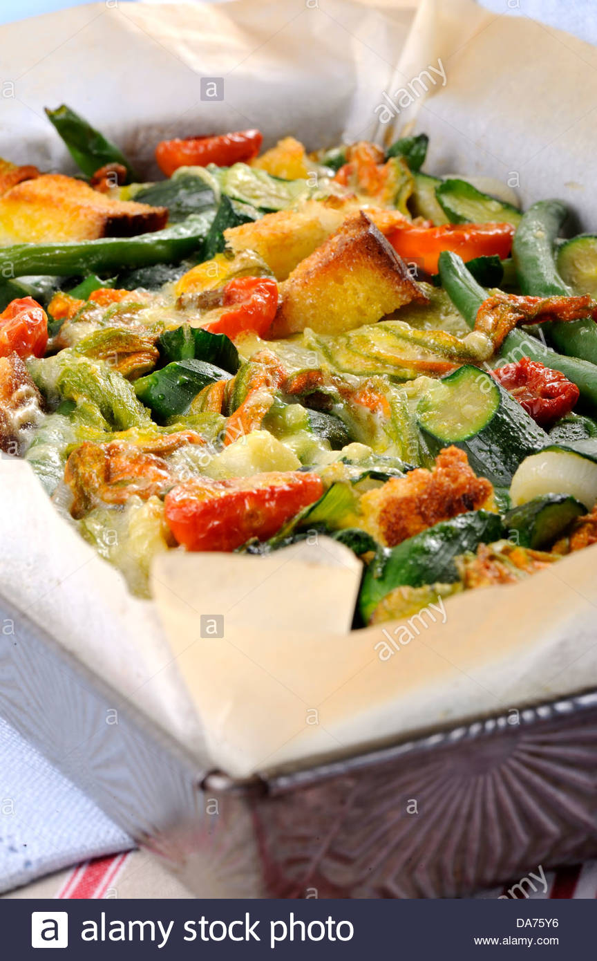 mess of vegetables - Stock Image