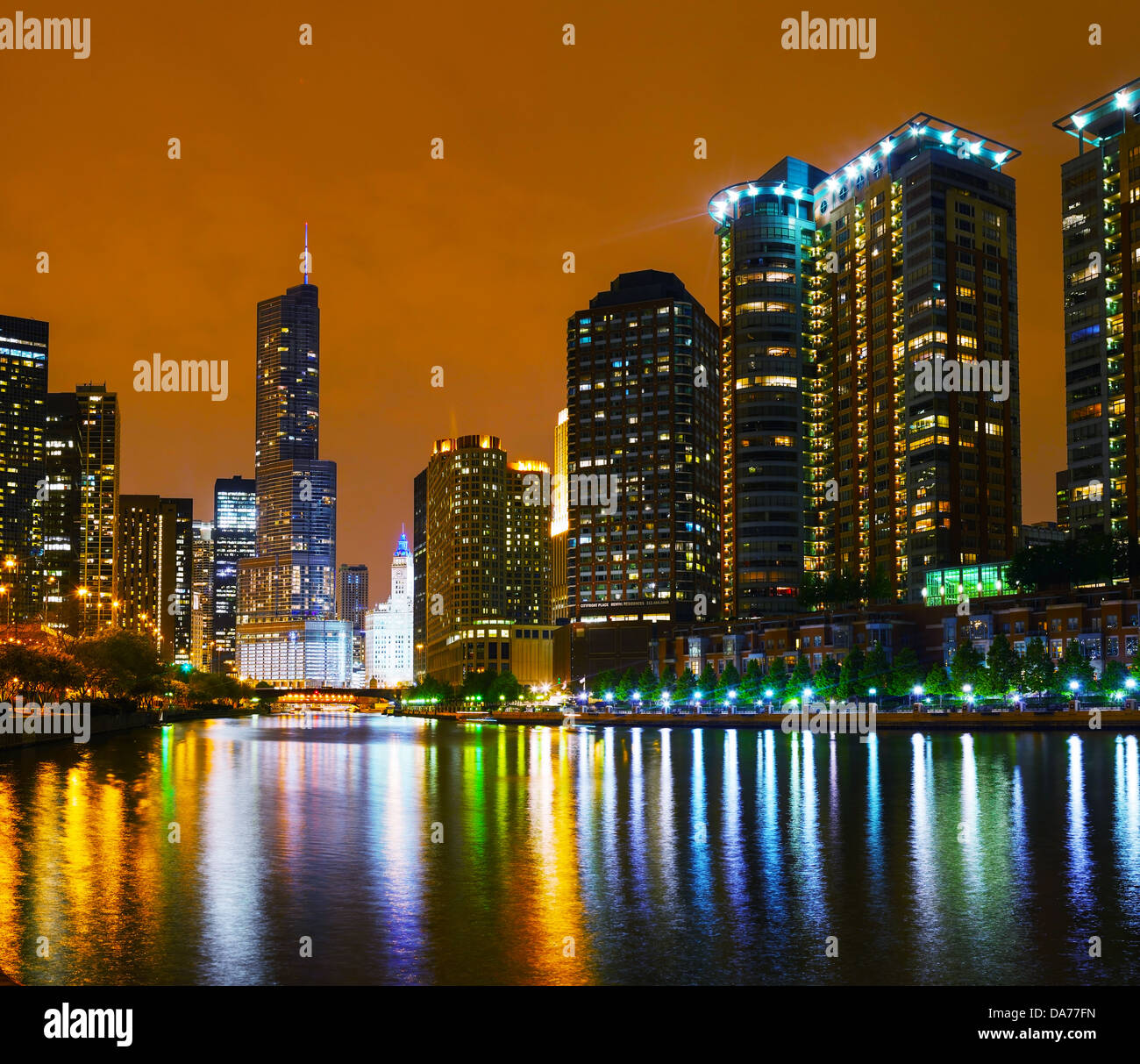 Trump International Hotel and Tower in Chicago, Illinois - Stock Image