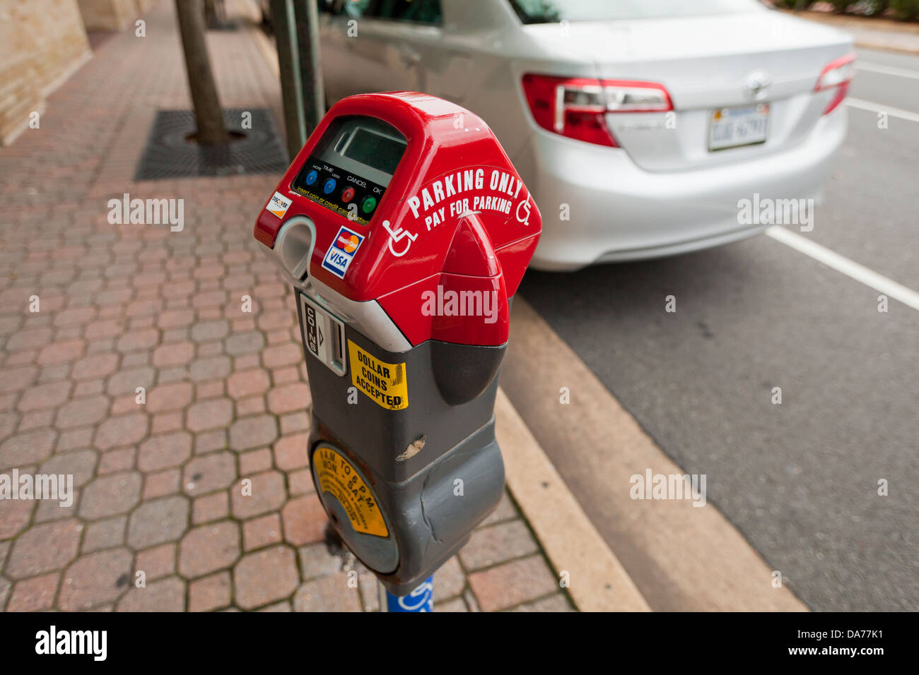 Disabled parking meter - Stock Image