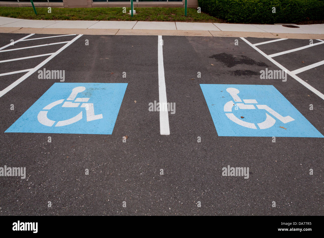 Disabled parking spaces - Stock Image