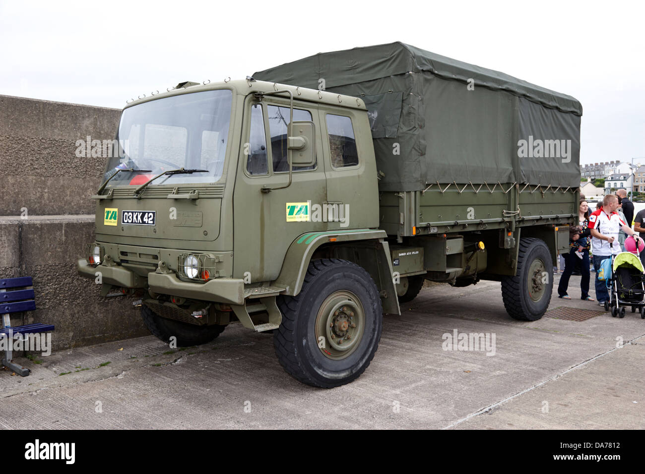 british army territorial army reserves leyland daf cargo vehicle county down northern ireland uk - Stock Image