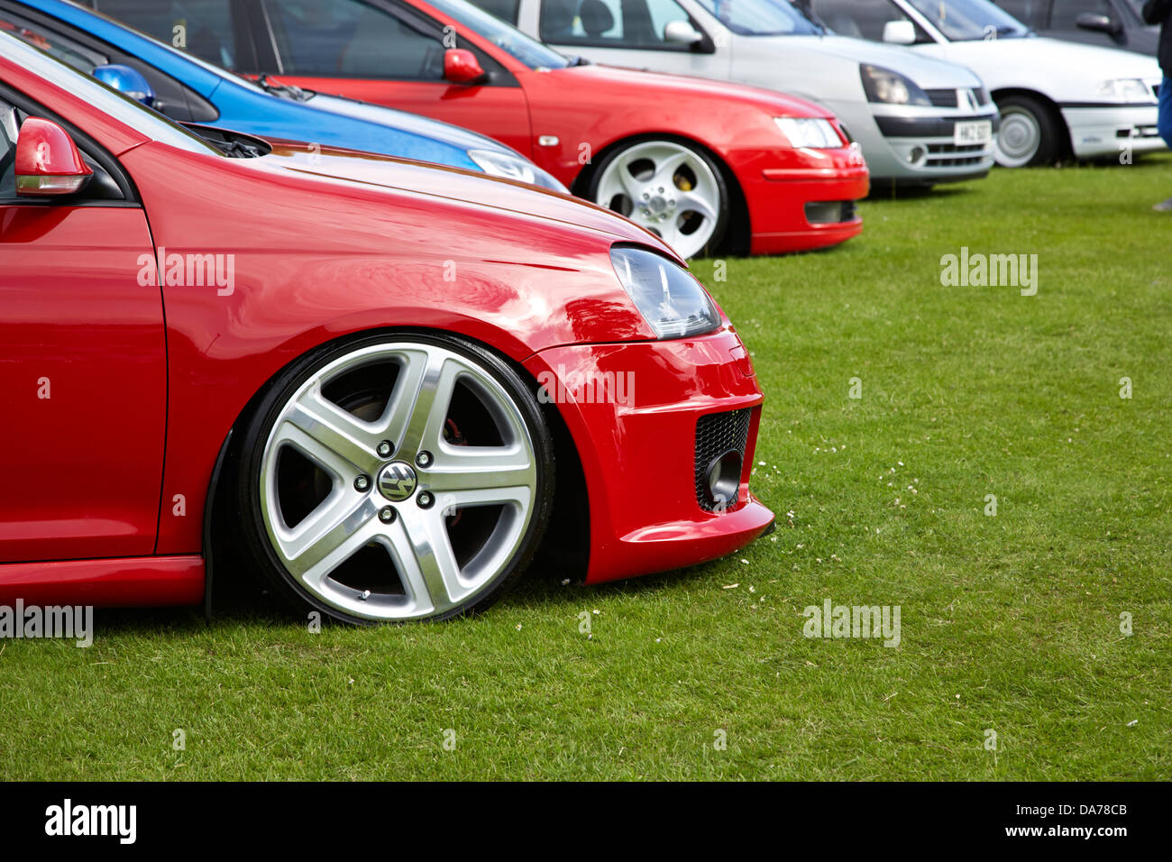 lowered modified custom performance car show county down northern ireland uk - Stock Image