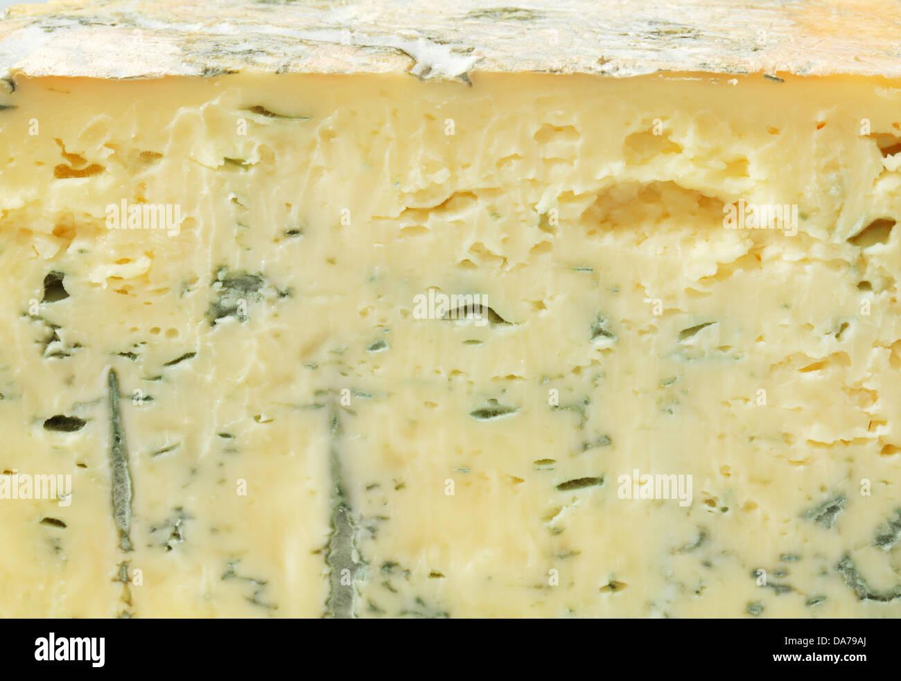 Detail of blue cheese - full frame - Stock Image