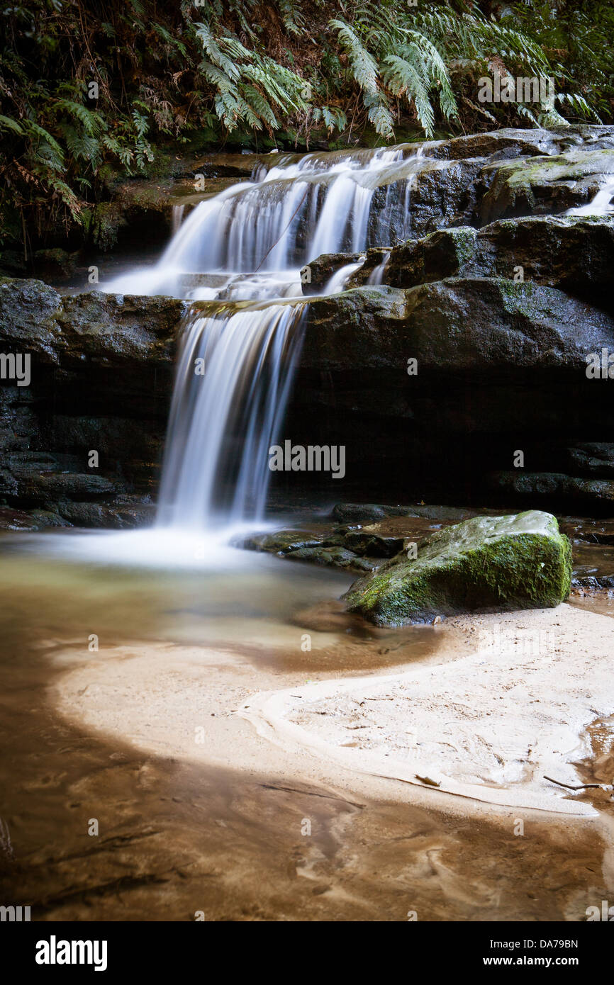 Leura cascades in the Blue Mountains, New South Wales, Australia Stock Photo